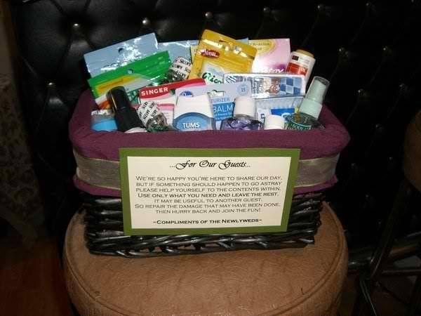 Bathroom baskets wedding decor pinterest for Wedding reception bathroom ideas