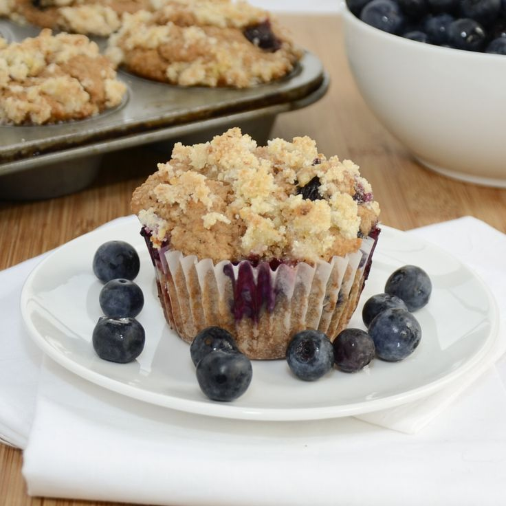 Whole Wheat Blueberry Muffins...omit the lemon topping and use milk ...