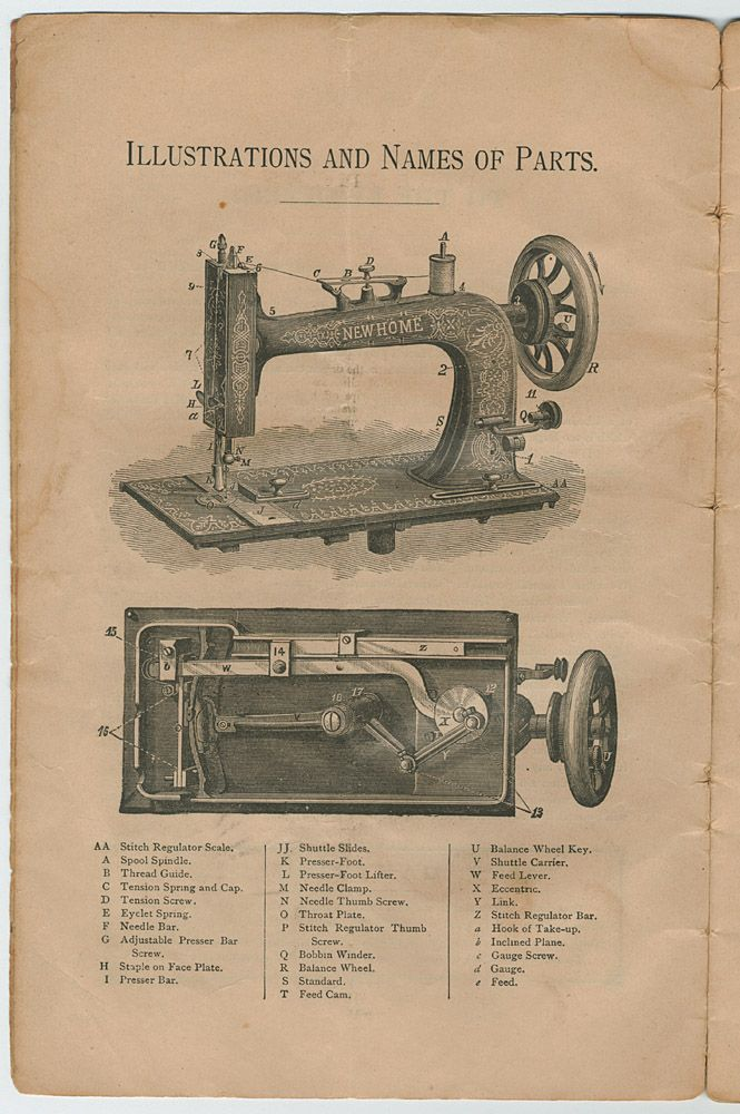 new home treadle sewing machine manual