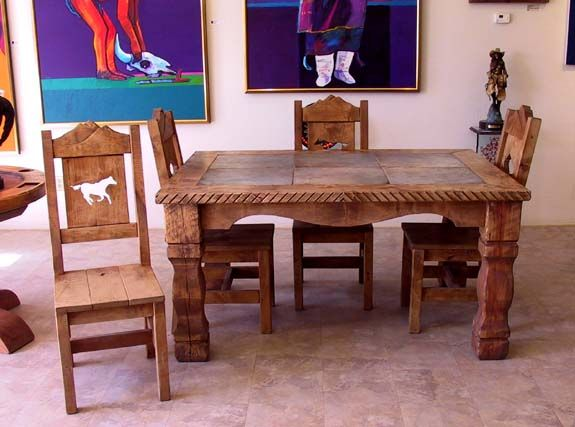 ranch dining table western style furniture and decor