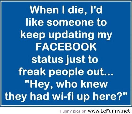 Especially since I don't have one... Ha ha.