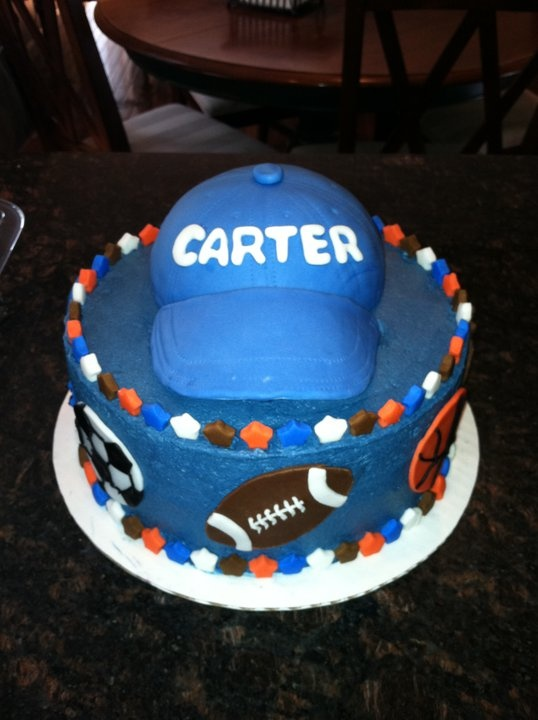 fun sports themed baby shower cake our little all star baby shower