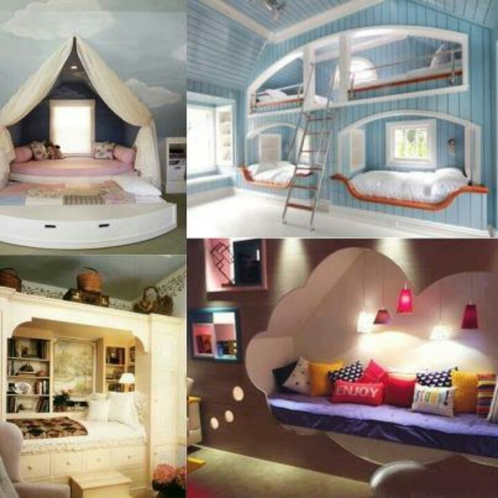 Cool built in beds Useful Pinterest