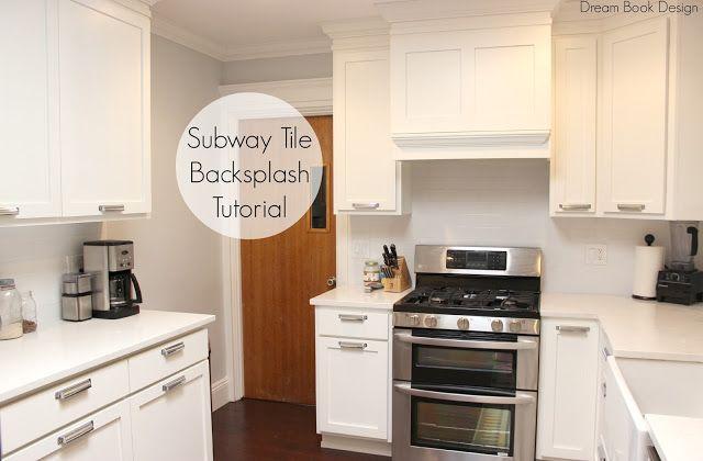 easy diy subway tile backsplash tutorial