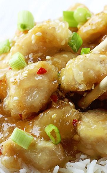CHINESE HONEY GARLIC CHICKEN this looks delicious. I secretly cant ...