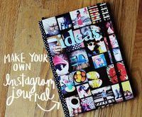 Use your instagram photos to create a journal cover.