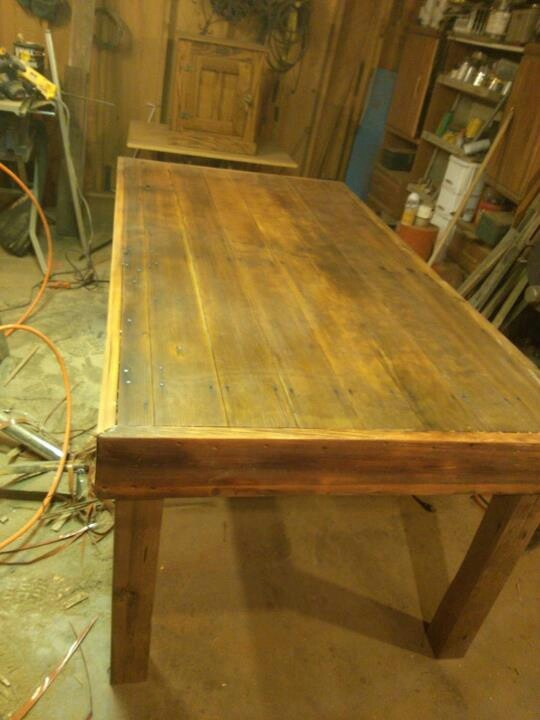 Table I Made Using An Old Barn Door The Old Barn Lumber Co Pinte