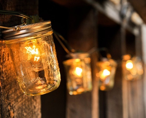 Mason Jar String Lights LIGHTING - Electric Pinterest