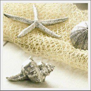DIY Pottery Barn Silver Seashells