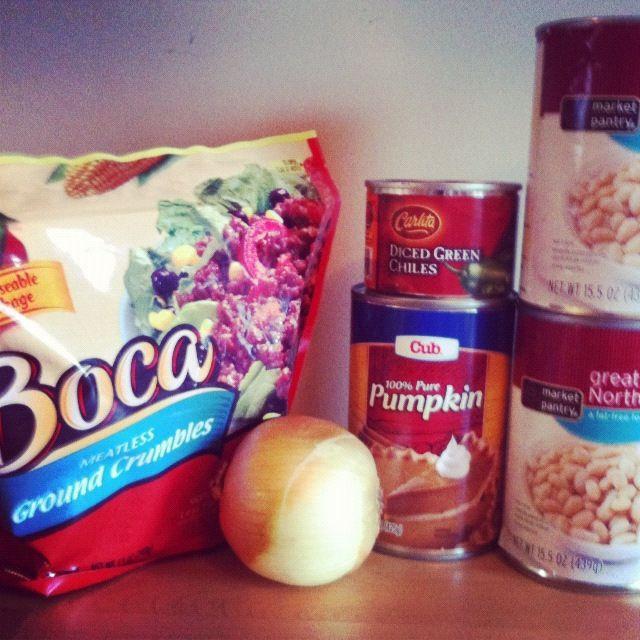 Crock Pot White Bean Pumpkin Chili | Crockpot meals | Pinterest