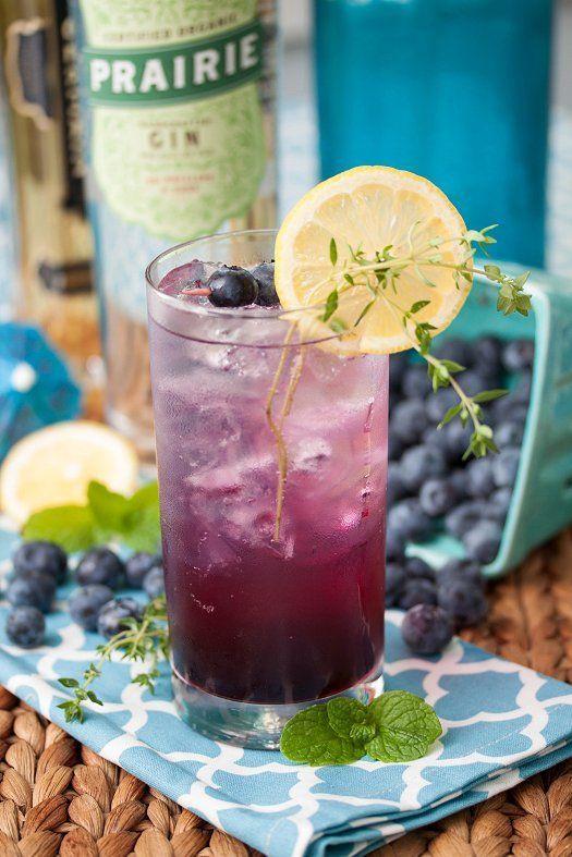 Blueberry Thyme Gin Smash | Bartending tips(y) | Pinterest