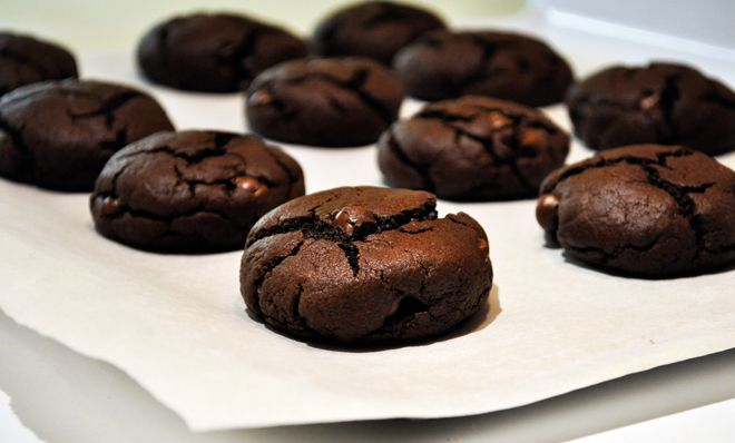 Mint chocolate cookies...I love to make these! And I add a mint ...