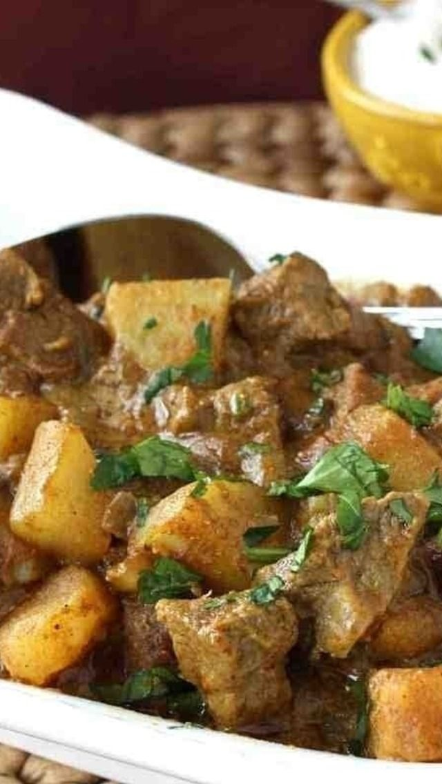 Mum's Savory Beef and Potato Curry | Beef & pork | Pinterest