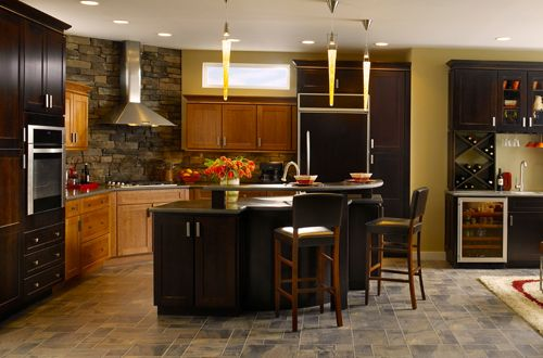 Two Color Kitchen Cabinets For The Home Pinterest