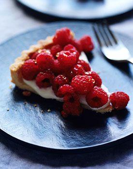 Raspberry Crème Frache Tart with Lavender Honey Recipe at Epicurious ...