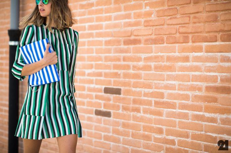 Grazia Italia woman wearing stripes