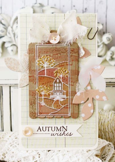 Autumn Hills Revisited: Autumn Wishes Card by Melissa Phillips for Papertrey Ink (October 2014)