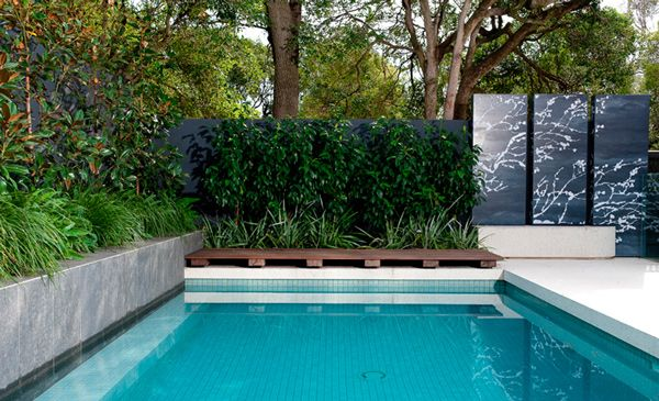 Landscaping around pool pool landscaping pinterest for Landscaping around pool