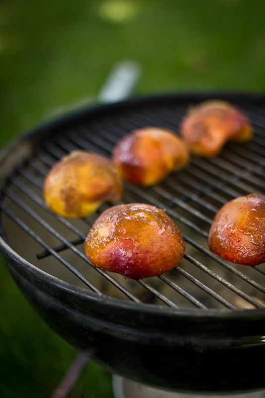 grilled peaches cream grilled peaches two peas grilled peach ice cream ...