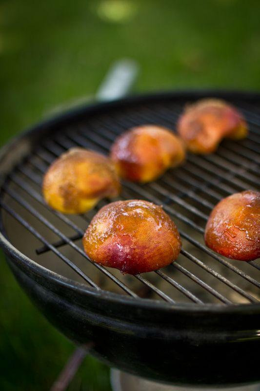 ... grilled brown sugar peaches with cinnamon amp vanilla ice cream plus a