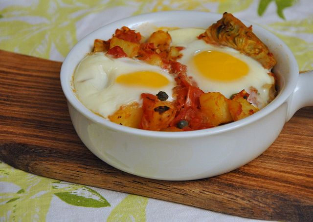 Eggs in Purgatory with Artichoke Hearts, Potatoes and Capers by ...