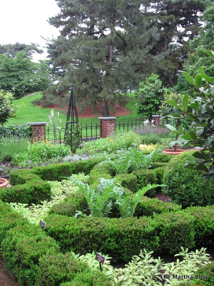 Martha Stewart Herb garden at NYBG martha stewart