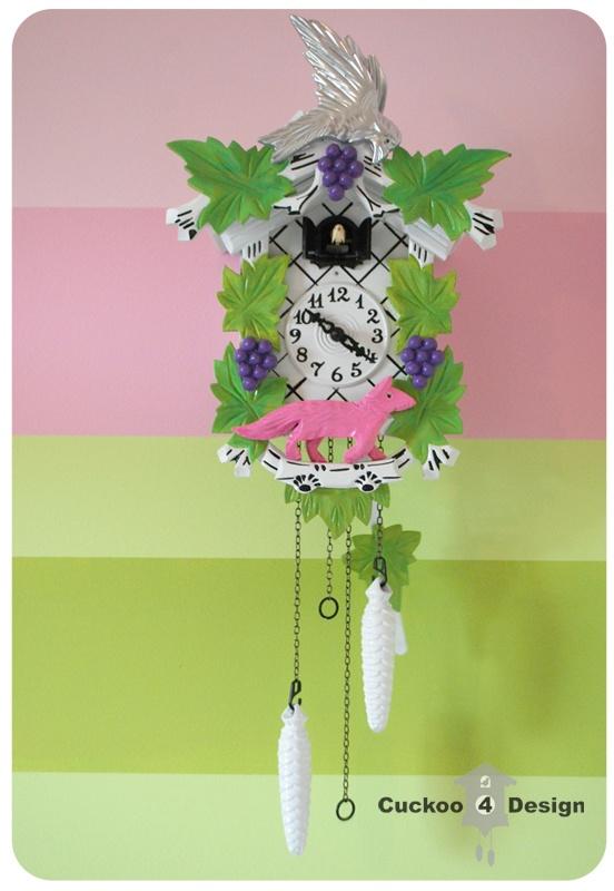 Painted Colorful Cuckoo Clock Diy Pinterest