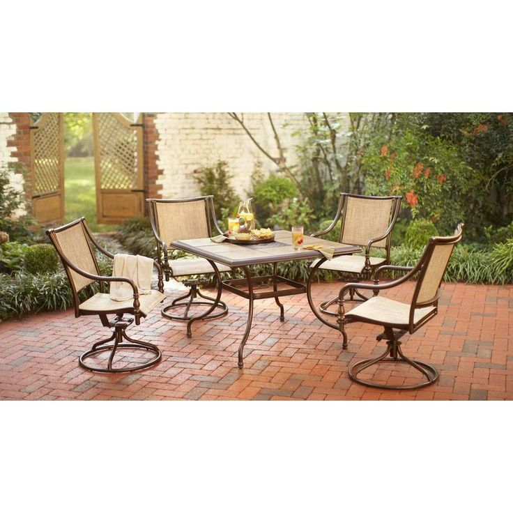 hton bay dining furniture 5 patio dining