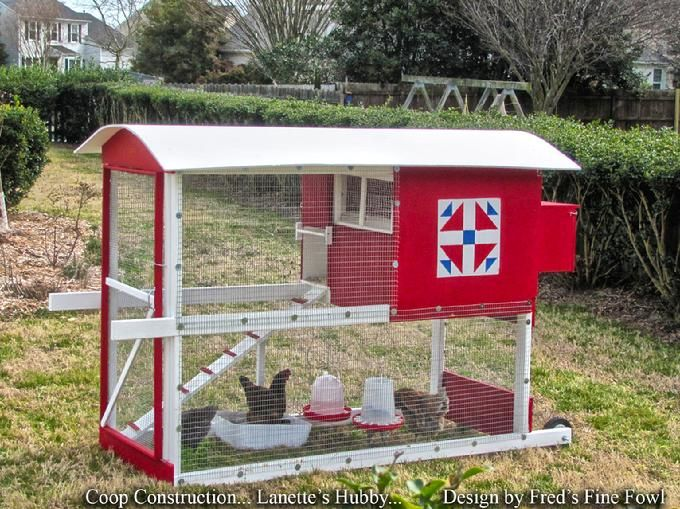 Pin by k m on for the birds pinterest for Mobile chicken coops