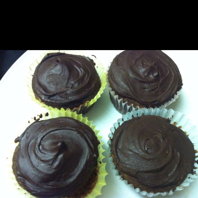 Chocolate-chocolate cupcakes by Dorie Greenspan. You can google the ...