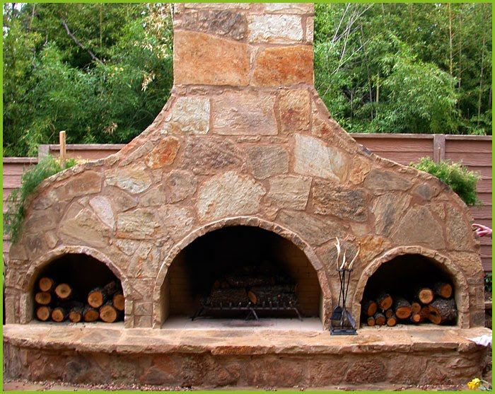 Outdoor Pizza Oven Fireplace Backyard Pinterest