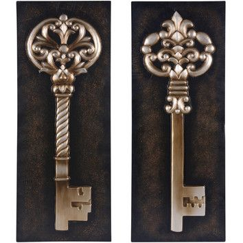 Wilco wilco 2 piece key wall d cor set padgett master for Keys decorating walls