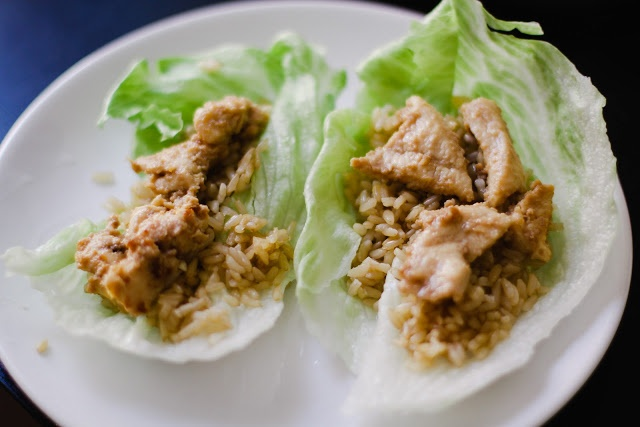 Clean Thai-Style Chicken Lettuce Cups | Mangia! | Pinterest