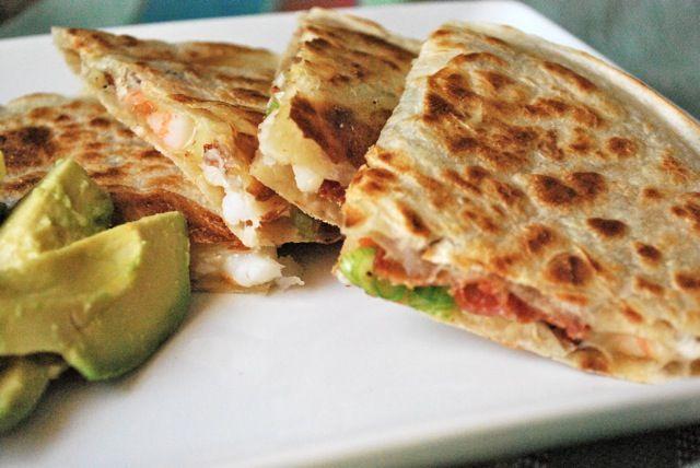 bacon and shrimp quesadilla