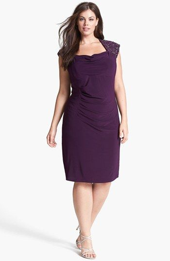... Jersey Sheath Dress available at #Nordstrom #homecoming #plussize