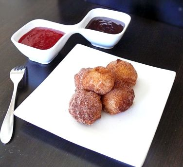 Zeppoles with a Stout, Chocolate Chili Sauce | Recipe