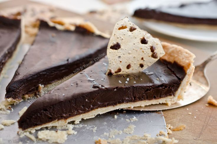 Dark Chocolate Pie with Cocoa Nib and Bacon Praline | Sweet Goodness ...