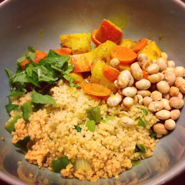 Curried apples & carrots with couscous (you could switch it out for ...