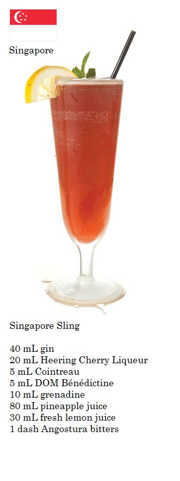 Singapore Sling (Singapore) | the wino and I know... | Pinterest