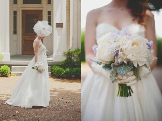 hate the head wear, loveee the bouquet!