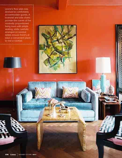 orange lacquer walls