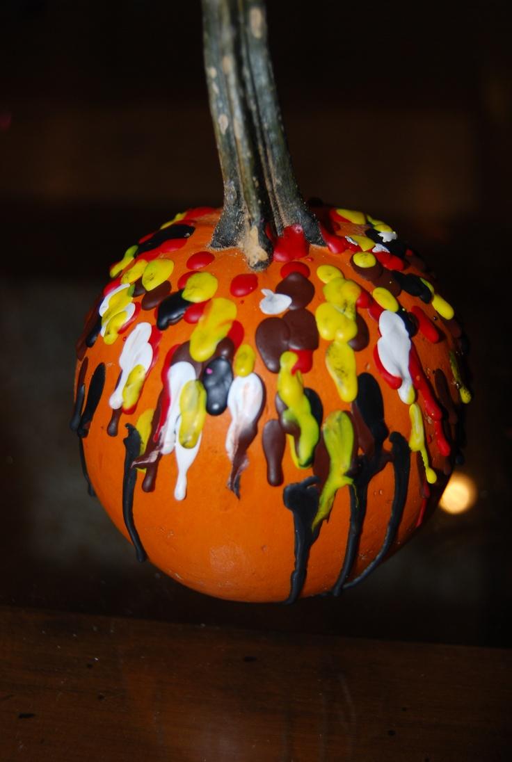 melted crayon pumpkin halloween pinterest