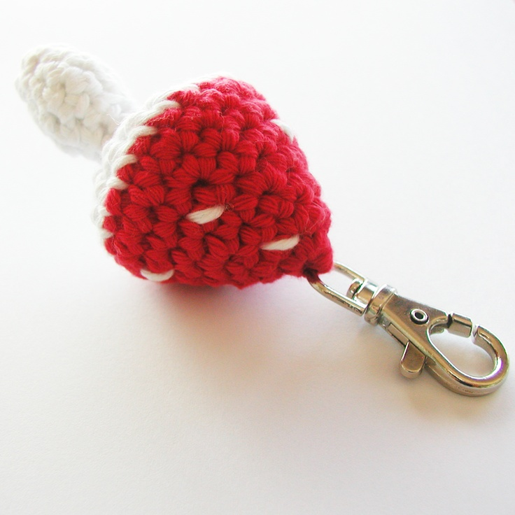 Crochet Keychain : Crochet mushroom keychain. ??Crochet ? Little softies ...