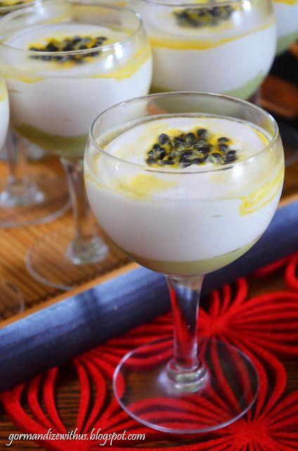 ... Cream & Passion Fruit Mousse (Creme de Abacate & Mousse de Maracujá