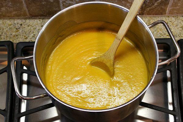 Autumn Vegetable Soup - apple, butternut squash, carrot, sweet potato