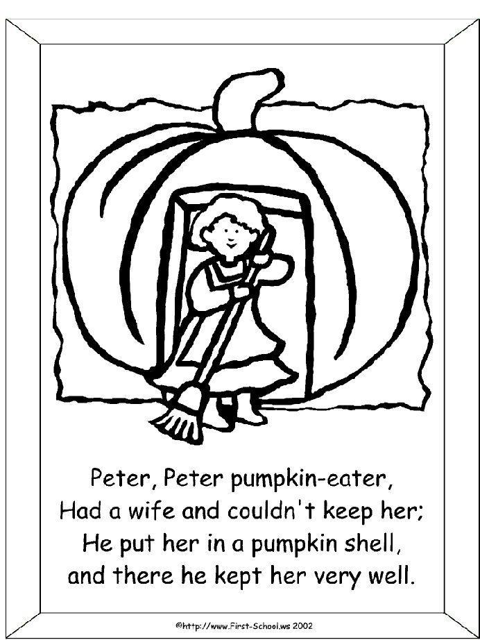 Pin By Cori Long Surerus On Pumpkins Pinterest Pumpkin Eater Coloring Page