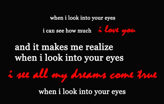 When i look into your eyes firehouse i