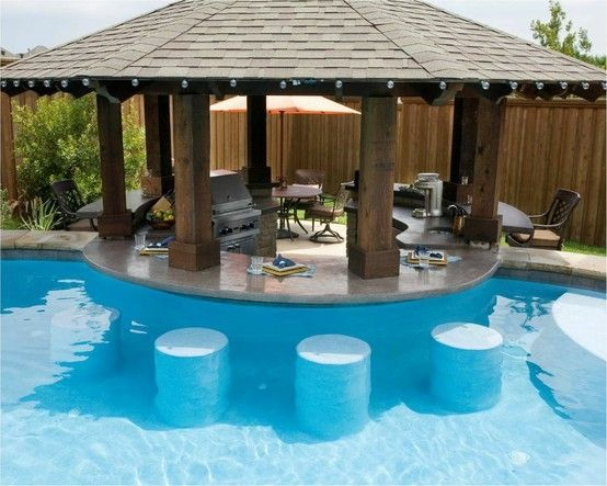 Backyard Pool Bar Ideas : outdoor kitchens with swim up bars  swim up bar by allisonn