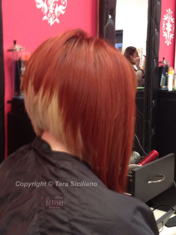 Dramatic A-line bob with two-tone color | Hair | Pinterest