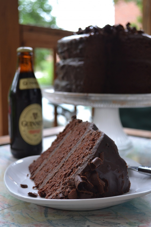 Delicious Chocolate Stout Cake from 'a rented kitchen'. Soooo good!